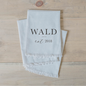 Personalized Last Name Napkin