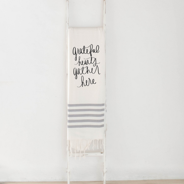 Grateful Hearts Gather Here Blanket