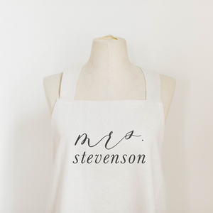 Personalized Mrs. Apron