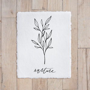Nurture Wildflower Print