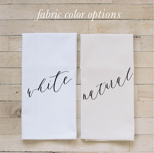 Personalized Last Name Tea Towel