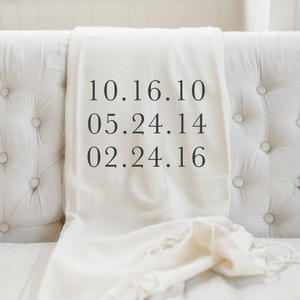 Personalized Special Date Throw Blanket