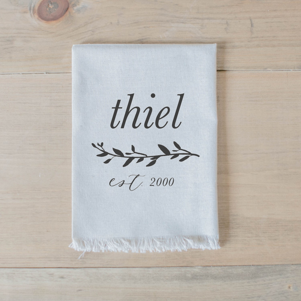 Personalized Last Name with Laurel Napkin