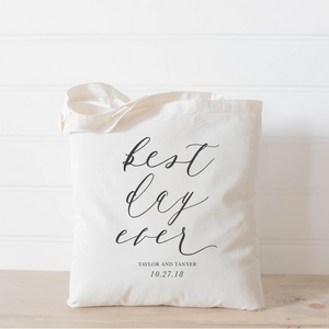 Personalized Best Day Ever Tote Bag