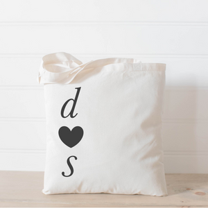 Personalized Two Initials Tote Bag