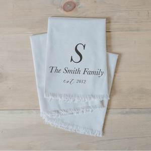 Personalized Family Name and Year Napkin