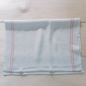 Red Striped Christmas French Linen Tea Towel