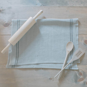 Black Striped French Linen Tea Towel