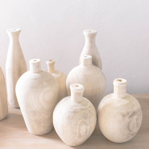 Single Stem Wood Vase