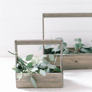 Wood Planter Basket