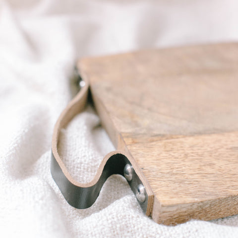 Leather Strap Serving Board