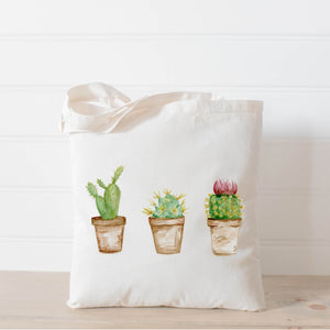 Cactus Watercolor Tote Bag