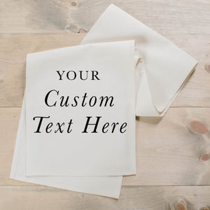 Custom Text Table Runner