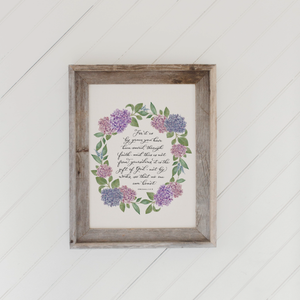 Ephesians 2 Barn Wood Framed Print