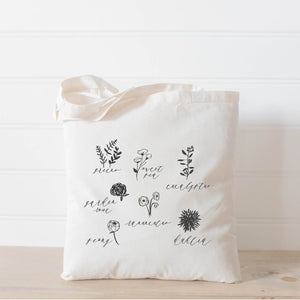 Flower Types Tote Bag