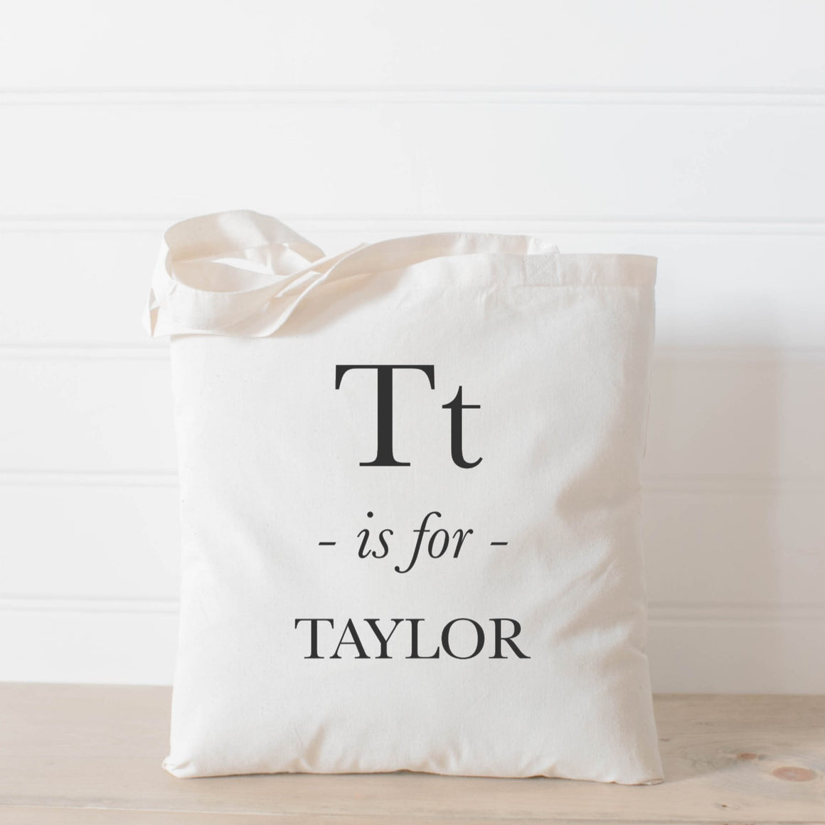 Handmade 100% cotton personalized alphabet letter tote bag