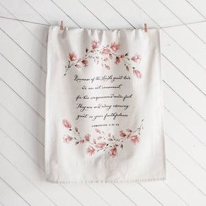 Lamentations 3 Hanging Tea Towel