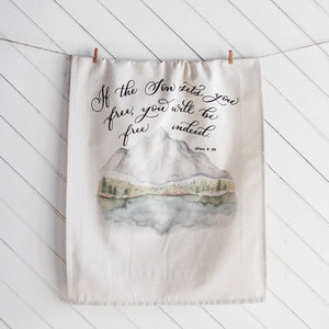 John 8 Hanging Tea Towel