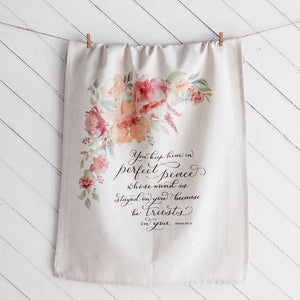 Isaiah 26 Hanging Tea Towel