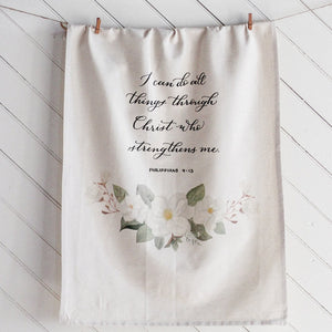 Philippians 4 Hanging Tea Towel