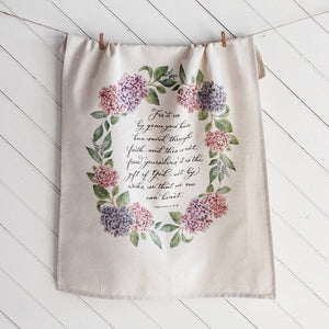 Ephesians 2 Hanging Tea Towel