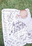 Nursery Rhyme Calligraphy Baby Blanket