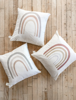 Taupe Rainbow Pillow
