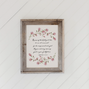 Lamentations 3 Barn Wood Framed Print