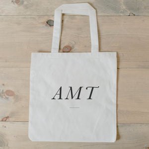 Handmade 100% cotton personalized monogram tote bag