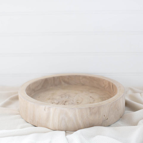 Natural Wood Round Tray