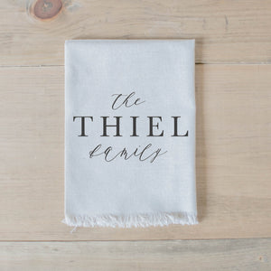 Personalized Calligraphy Family Name Napkin