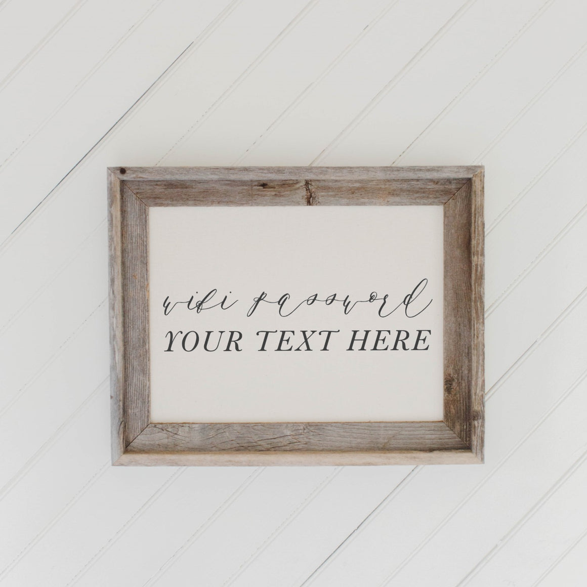 Personalized Wifi Password Barn Wood Framed Print