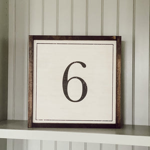 Vintage Numbers Wood Sign