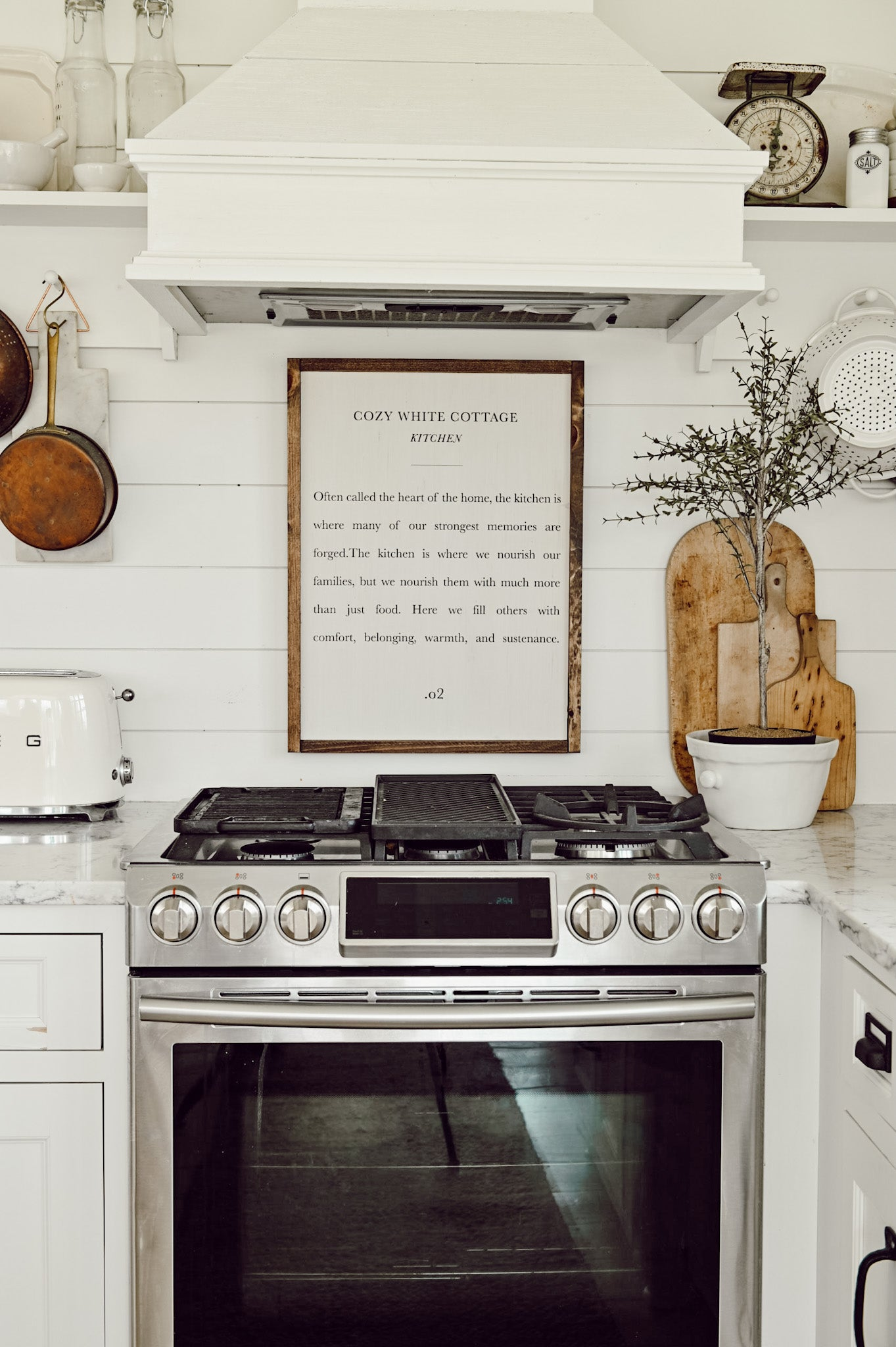 Cozy White Cottage Kitchen Wood Sign Pcb Home