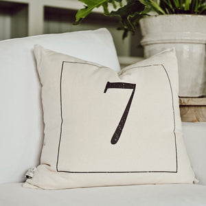 Vintage Numbers Pillow