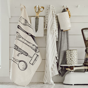 Utensils Hanging Tea Towel