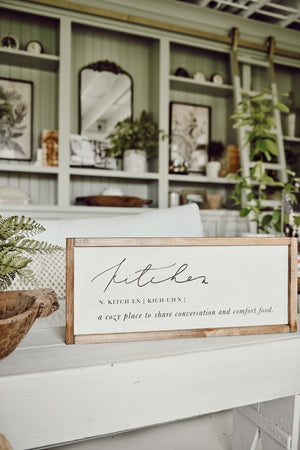 Cozy Kitchen Definition Wood Sign