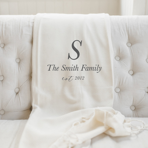 Personalized Family Name Blanket