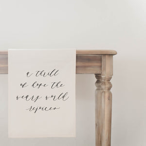 A Thrill of Hope Table Runner