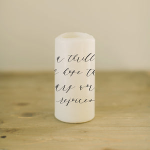 A Thrill Of Hope Candle