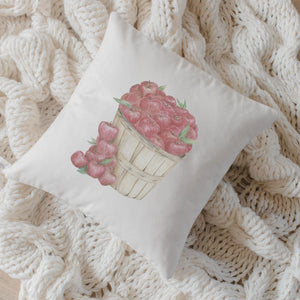 Apple Basket Watercolor Pillow