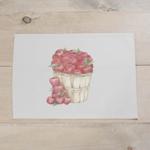 Apple Basket Watercolor Placemat