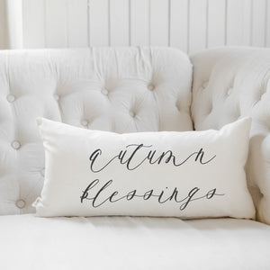 Autumn Blessings Lumbar Pillow
