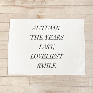 Autumn, the Years Last, Loveliest Smile Placemat