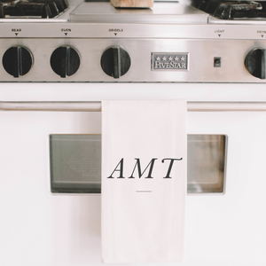 Personalized Monogram Tea Towel