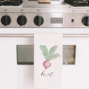 Beet Watercolor Tea Towel