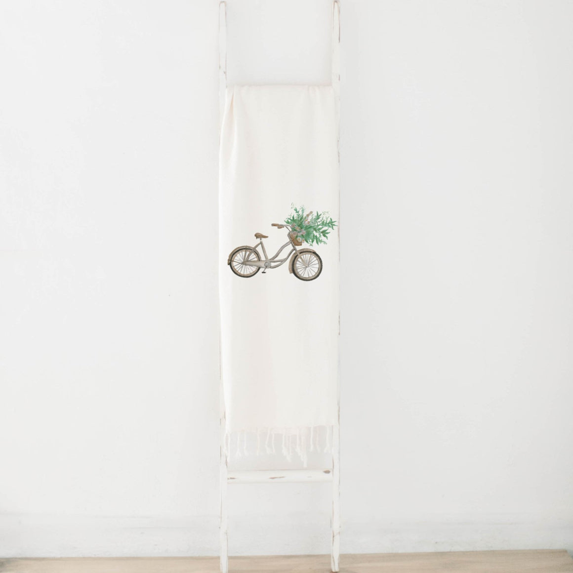 Floral Bike Watercolor Blanket