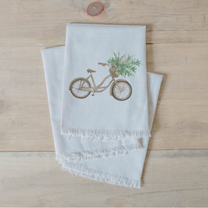 Floral Bike Watercolor Napkin