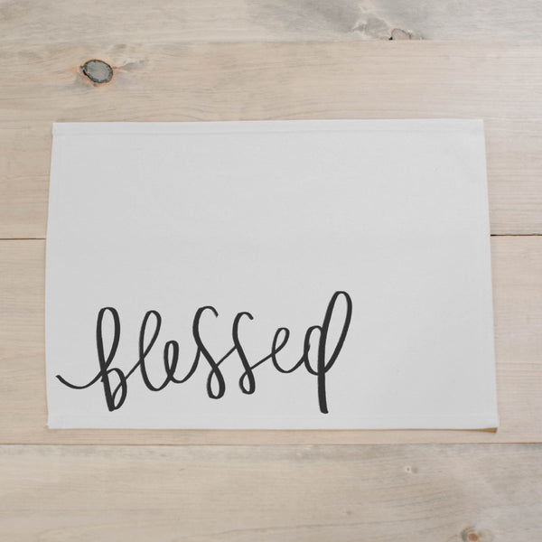 Handmade 100% cotton blessed placemat