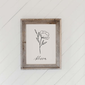 Blossom Wildflower Barn Wood Framed Print
